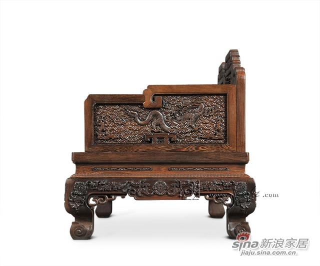 连天红云龙纹双人椅-2