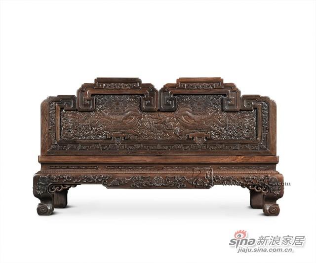 连天红云龙纹双人椅-3