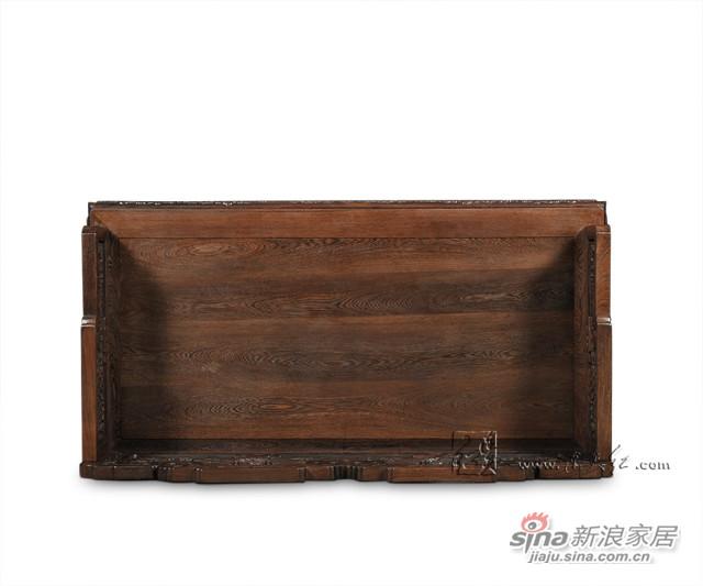连天红云龙纹双人椅-4
