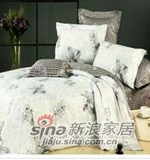 紫罗兰家纺床上用品全棉活性印花四件套塞纳河畔PCKA120-4-0
