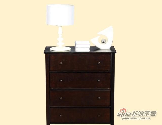 喜梦宝松木斗柜实木四斗柜欧式收纳柜 简约现代松木储物柜置物柜-2