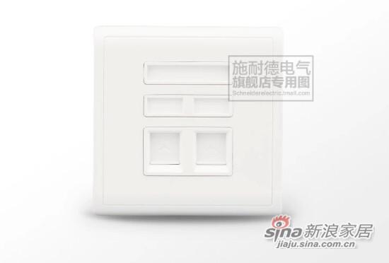 施耐德电话+电脑插座-0