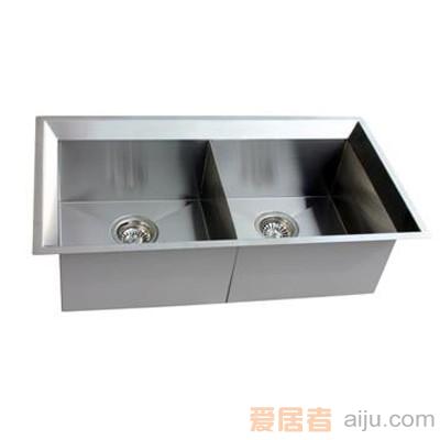 GORLDE优质不锈钢水槽/洗菜池SQ系列SQ13(双方盆)1
