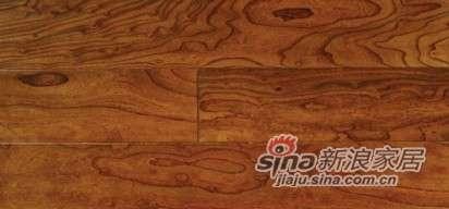 欧龙地板多层实木系列-榆木仿古2号