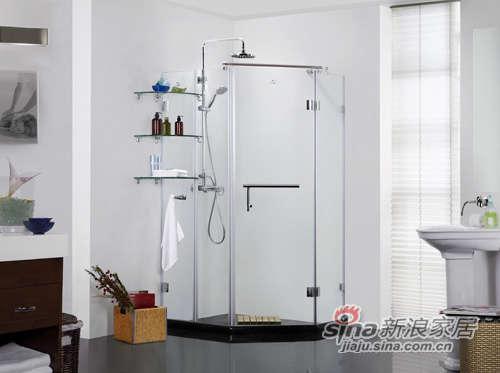 德立钻石形内开门淋浴房-0