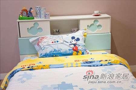 迪士尼儿童彩色家具-冰雪米奇床-1