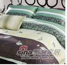 紫罗兰家纺床上用品全棉活性印花四件套宁静致远PCKA015-4-0