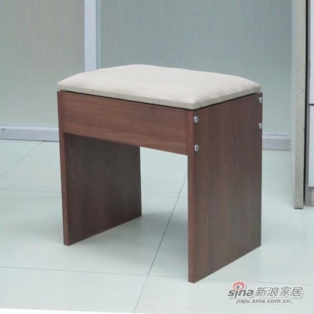 【新干线】板木软座垫梳妆凳休闲凳方凳-1