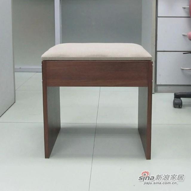 【新干线】板木软座垫梳妆凳休闲凳方凳-2