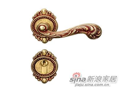 雅洁AS2011-C1915-92英文45抛铜锁体+英文70铜锁胆-0