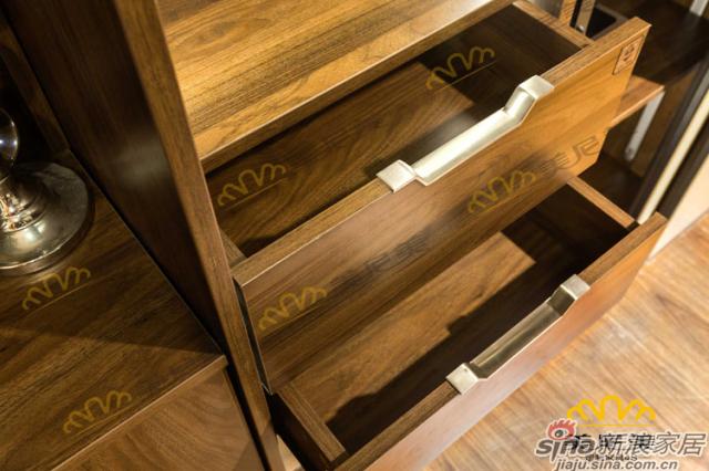 经典美式咖啡-床头柜收纳区细节