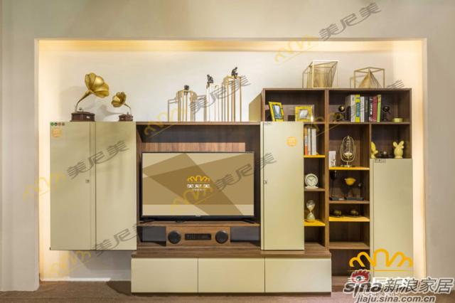 经典美式咖啡-电视柜-趟门开