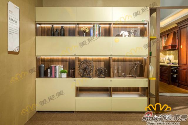经典美式咖啡-隔断柜-桌椅隐藏