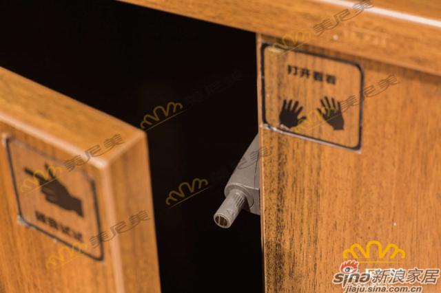 经典美式咖啡-床边柜-阻尼器柜门反弹器细节