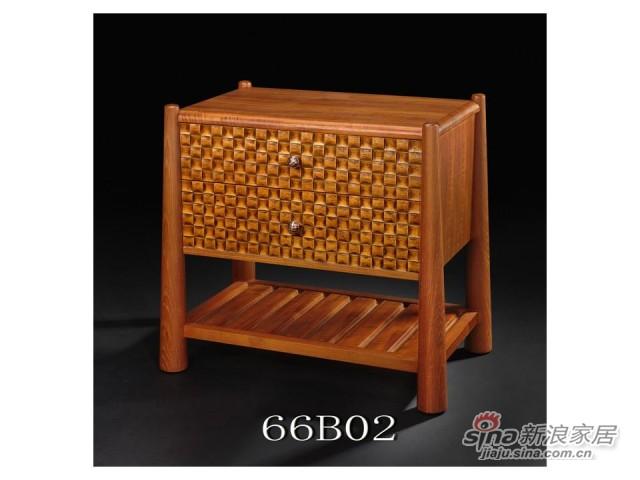 嘉豪何室66BO2床头柜-0