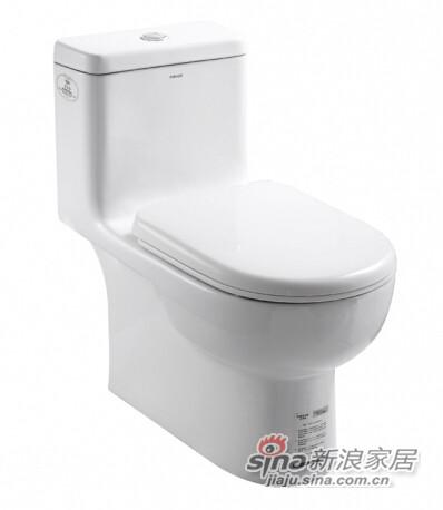 法恩莎卫浴节水环保连体座便器-0