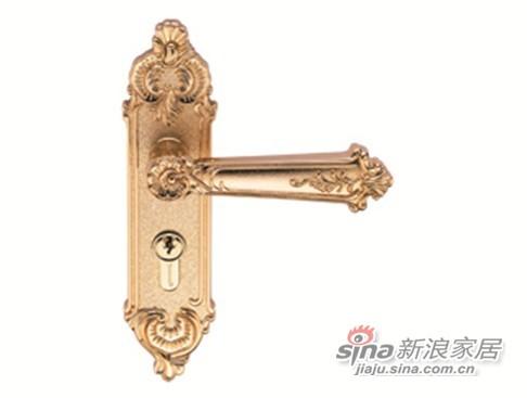 雅洁AS2051-HC3169-02中锁英文铜锁体+英文铜锁胆-0