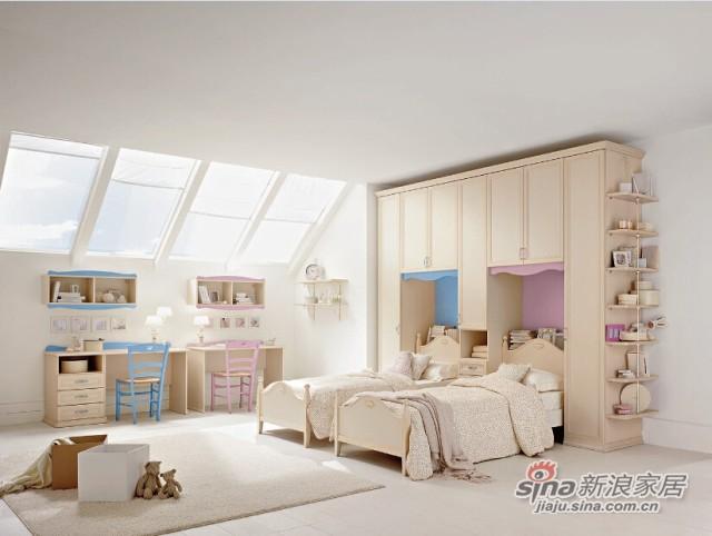 哥伦比尼儿童家具阿尔卡迪亚系列双床房-1