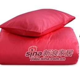MLILY 床上用品 特价套件 全棉斜纹 活性印染炫彩三件套(玫红)-0