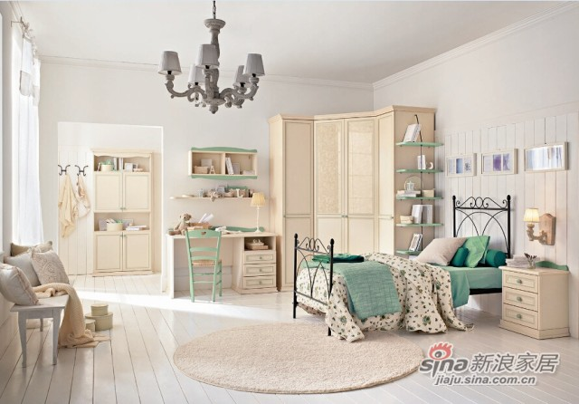 哥伦比尼儿童家具阿尔卡迪亚系列单床房-5