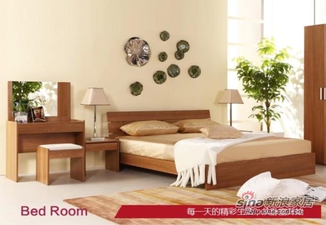 曲美家具卧室家具组合-0