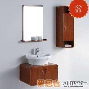 法恩莎实木浴室柜FP4652B盆(515*420*175mm)1
