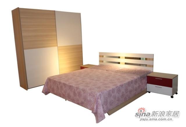 迈格家具 卧房四件套 白蜡加白色-0