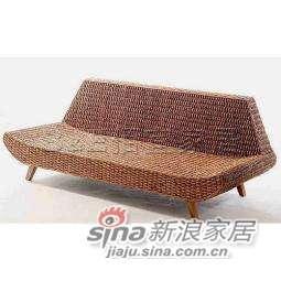 B&E佰宜家居 田园风格环保藤艺家具船型沙发-0