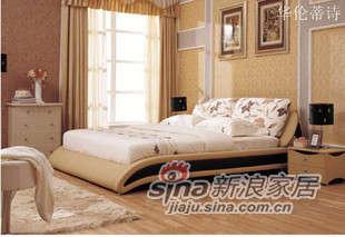 华伦蒂诗皮配布软床双人床B692 -0