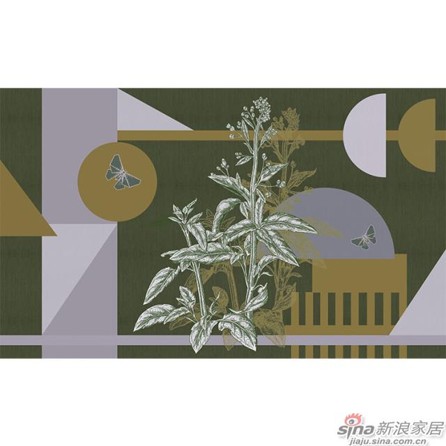几何物语_深蓝色调几何图形壁画欧式风格背景墙_JCC天洋墙布-2