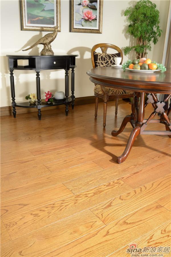 野生原木地板-美国红橡(雅杏色)