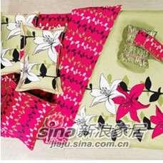 紫罗兰家纺全棉活性印花四件套时尚花PCKA332-4-0