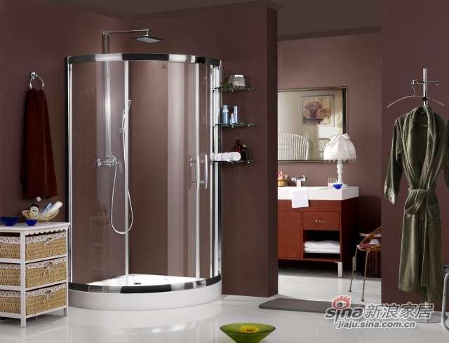 扇形推拉门淋浴房