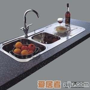GORLDE优质不锈钢水槽/洗菜池 莱茵系列ET01(双盆带翼)1