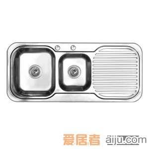 GORLDE优质不锈钢水槽/洗菜池 莱茵系列ET01(双盆带翼)2