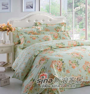 红富士床上用品珍品欧风四件套花颜悦色