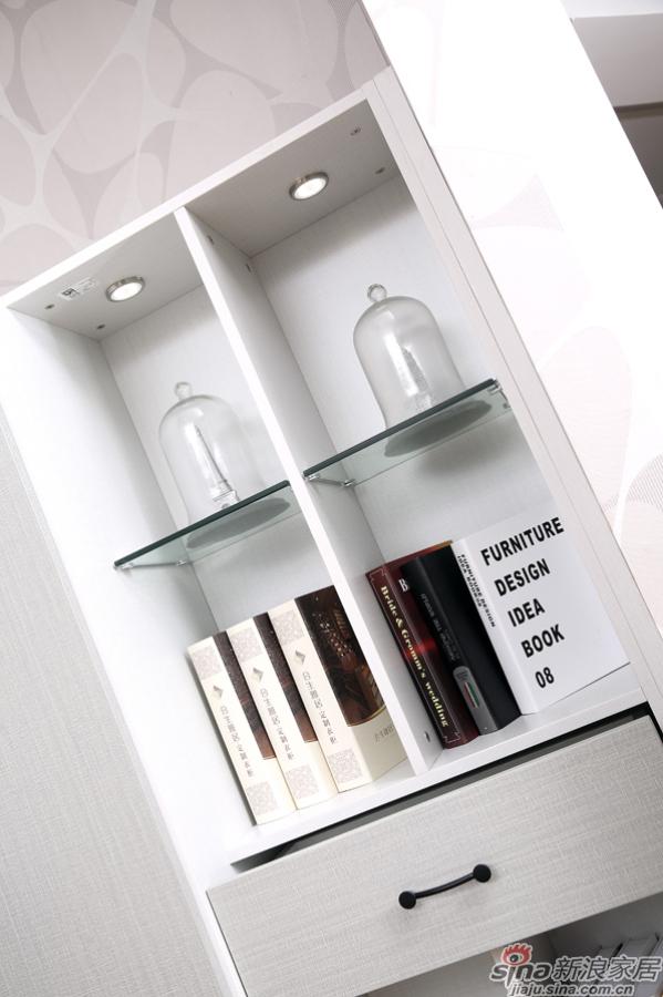 合生雅居米兰白布纹+经典灰布纹书柜+书台-4