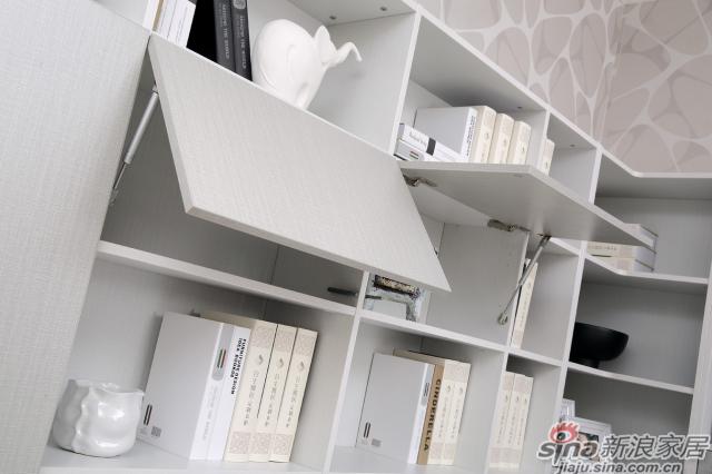 合生雅居米兰白布纹+经典灰布纹书柜+书台-8