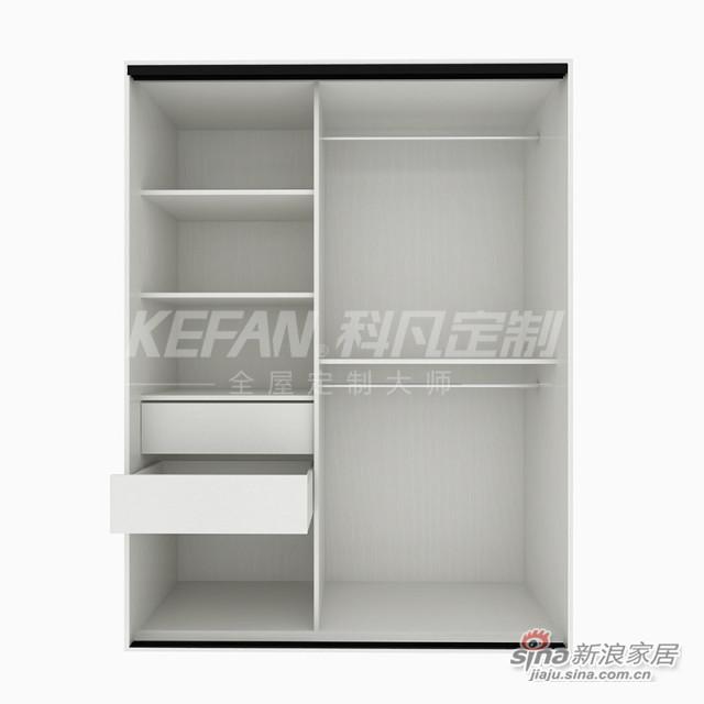 科凡现代时尚简易储物推拉门衣柜CY004-5