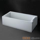 惠达-HD1304双裙边浴缸(含下水)