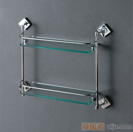 法恩莎双层玻璃置物架FGJ29161