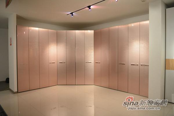 香槟色平板折叠门衣柜 浪漫女人空间-0