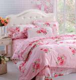 红富士床上用品高级全棉印花四件套梦幻庄园红