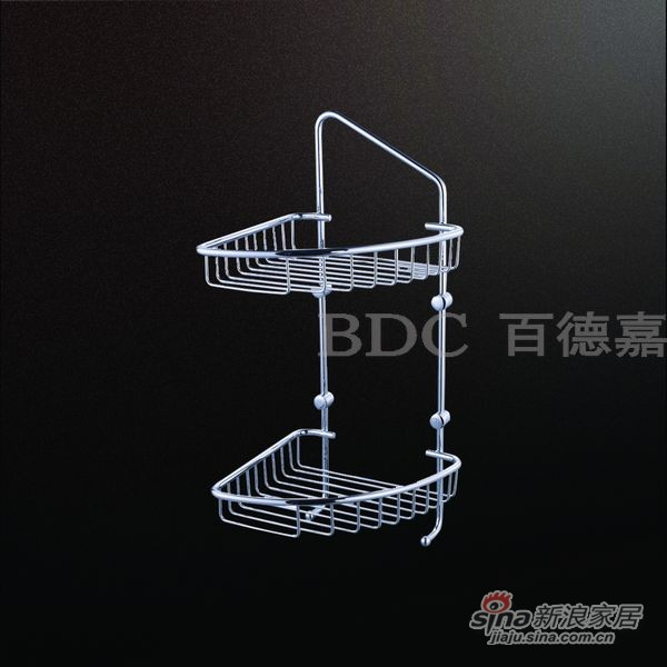 百德嘉五金龙头挂件-H692202三角两层网架-0