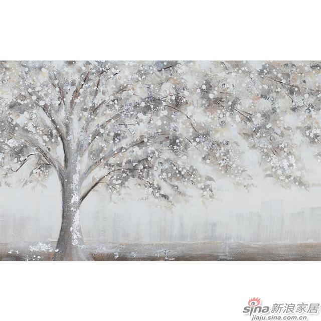 灿烂千阳_像盛开的樱花树又像雪树壁画欧式风格背景墙_JCC天洋墙布-1
