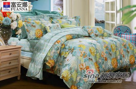 【富安娜】清新复古风全棉斜纹床单四件套-0