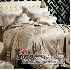 紫罗兰家纺丝棉提花六件套 沐风(黄、紫)VPES55-6-0