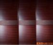 皇家枣红+波浪百叶+流线木纹 框+皮纹腰带