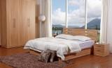天坛板式双人床