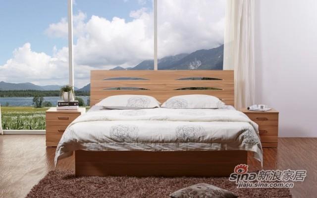 天坛板式双人床-2